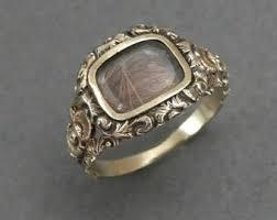 mourning ring mourning hair ring mourning ring onyx flower
