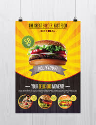 stockpsd net u2013 free psd flyers brochures and more fast food