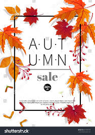 autumn sale vintage vector typography poster stock vector