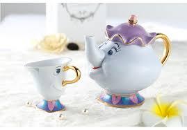 teapot set hot sale beauty and the beast teapot cup set mrs potts chip