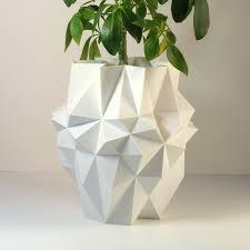 Large Planter Pot by Large Polygon Planter White Large Planter White Pot Modern Pot