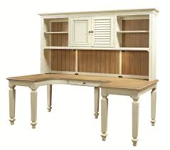 Computer Hutch Desk With Doors by Aspenhome Cottonwood U Shaped Desk And Hutch With 3 Shelves And