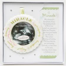 miracle ultrasound ornament gift boxed with poem
