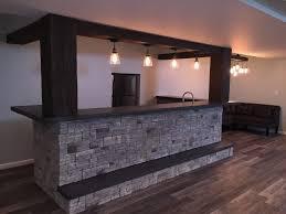 Basement Ideas On A Budget Dynamic Basement Bar Design With Beams House Pinterest