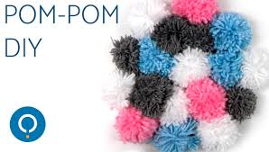 diy pom pom wall hanging easy home decor ideas youtube