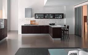 kitchens design ideas white brick wall tile sleek stainless steel