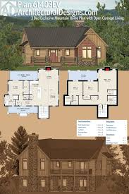 floor the modern mountain home plans of our collection are
