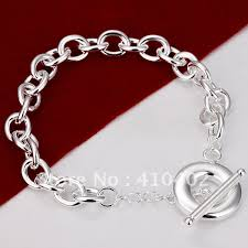 link bracelet silver images Free shipping h090 promotion factory price silver plated chain jpg