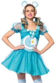 Carebear Halloween Costumes Leg Avenue Womens Blue Care Bear Dress Costume Upscalestripper