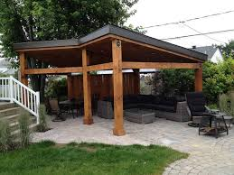 paved walkway and chic gazebo ideas using simple lawn and