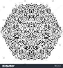 coloring page mandala vector art stock vector 378073822