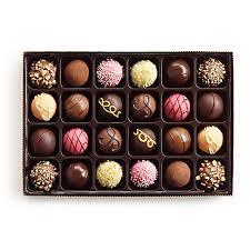 24 pc signature chocolate truffles gift box godiva