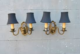 Yellow Wall Sconce Terrific Two Light Wall Sconce Set Light Yellow Shades On The