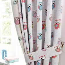 Owl Curtains For Nursery Pretty Owls Blackout Pencil Pleat Curtains Dunelm Bedding