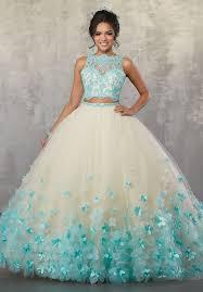 aqua quinceanera dresses floral two quinceanera dress by mori vizcaya 89175 abc