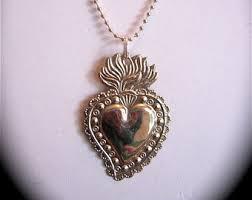 sacred heart jewelry sacred heart etsy