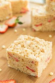 strawberry white chocolate rice krispie treats
