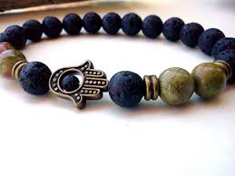 bracelet natural stones images Sn0291 new unakite hamsa bracelet lava hamsa man bracelet natural jpg