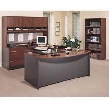 bush series a desk bush series c corsa executive bow front u shaped desk hansen cherry