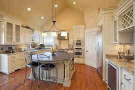 vaulted kitchen ceiling ideas kitchen cathedral ceiling ideas white l shape cabinet and