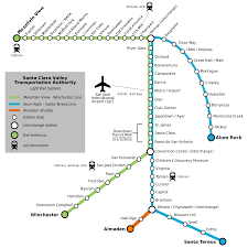 Montgomery Bart Station Map by List Of Santa Clara Vta Light Rail Stations Wikipedia