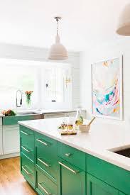 Green Kitchen Sink by Kitchen Green Base Cabinet Island White Laminated Mdf Countertop