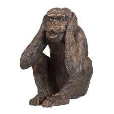 three wise monkeys size statues irongate garden elements
