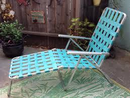 Folding Chaise Lounge Vintage 60 U0027s Aluminum Lawn Chair Turquoise By Elkhugsvintage