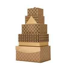metallic gift box glitzhome 4 88 in metallic gold exterior gift box set of 5