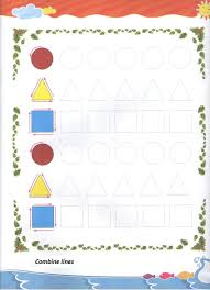 tracing shapes worksheet for preschool and kindergarten free