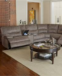 Macys Sectional Sofa Liam Fabric Power Reclining Sectional Sofa Collection Created For