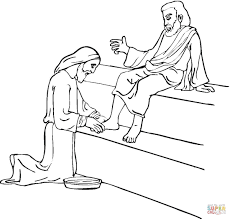 jesus washes disciples feet coloring page free download