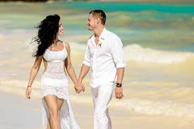 caribbean wedding attire officail wedding ceremony in republic cap cana