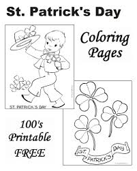 st patrick u0027s day coloring pictures