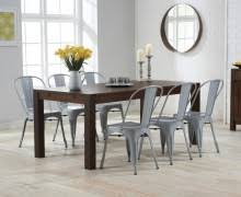 Tolix Dining Chairs Verona 120cm Solid Oak Dining Table With Tolix Industrial Style