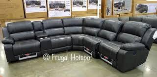 Pulaski Sectional Sofa Pulaski Furniture Leather Power Reclining Sectional Costco
