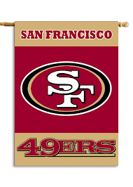 amazon com nfl san francisco 49ers 2 sided 28 by 40 inch house