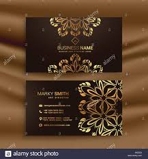 Luxury Business Cards Premium Luxury Business Card Design With Golden Floral Decoration