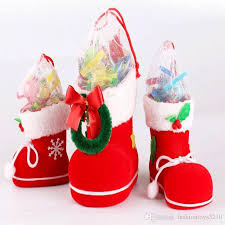 christmas accessories christmas candy boots s m l size christmas decorations ornament