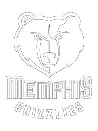 memphis grizzlies logo coloring free printable coloring pages