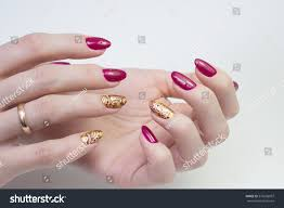 beautiful natural nails hand ideal clean stock photo 576600997
