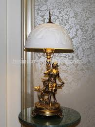 Bronze Desk Lamps European Style Table Lamp With Enamel Porcelain Lampshade