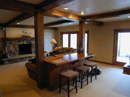 basement remodel family room contemporary with home bar white