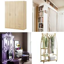 Closet Simple And Economical Solution Small Space No Closet Apartment Therapy