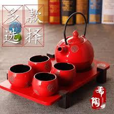 Wedding Gift Japanese Endulge Japanese Style Ceramic Kung Fu Tea Red Set Wedding Gift