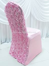 Pink Chair Covers 3d Baby Pink Rosette Flower Back Spandex Lycra Chair Cover Buy