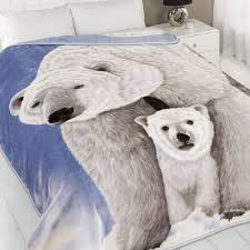 Polar Bear Fur Rug Dreamscene Animal Print Faux Fur Large Christmas Mink Throw Warm