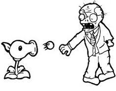 plants vs zombies zombie coloring page zombie coloring