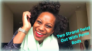 stranded rods hairstyle how to two strand twist out w perm rods youtube