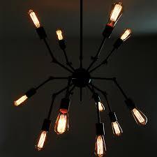 Steunk Light Fixtures Spider Shape 12 Light Industrial Pendant Light Fixtures